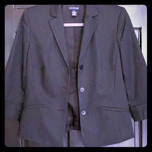 Ann Taylor Loft pinstripes blazer size 4 black